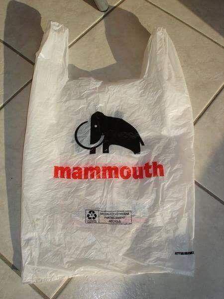 Sachet de caisse plastique , Mammouth