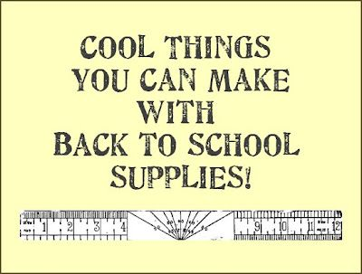 Cool things you can make with back to school supplies - lots of ideas!: Dishfunct Design, Crafts Ideas, Back To Schools, Cool Things, Schools Supplies, Back To School Supplies, Shopping, Classroom Idear, Classroom Ideas