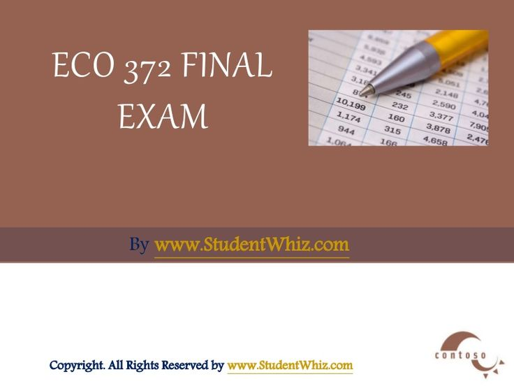 There is also an added advantage to the ECO 372 Final Exam Latest 30 Questions With Answers. We have prepared an exclusive section for the students, which contain answers to some of the questions as examples.