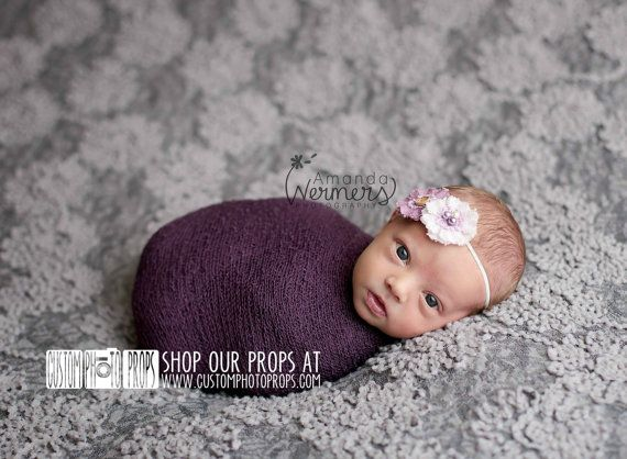 Eggplant Purple Nubble Baby Girl Newborn Stretch Baby Wrap Photo Prop (SwaDDLinG and HAnGinG VideOs) Newborn Photography Prop, Baby Props on Etsy, $17.99