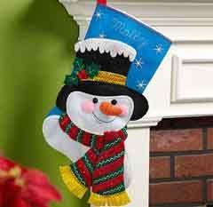 Bucilla+®+Seasonal+-+Felt+-+Stocking+Kits+-+Jack+Frost
