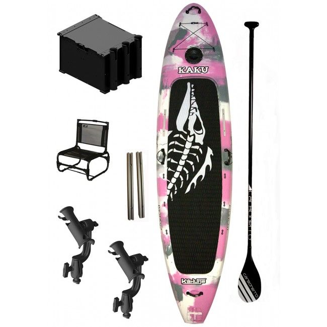IN STOCK Kaku Kahuna Pink Camo Paddleboard SUP Fishing Package. This Kaku Kahuna Package ...