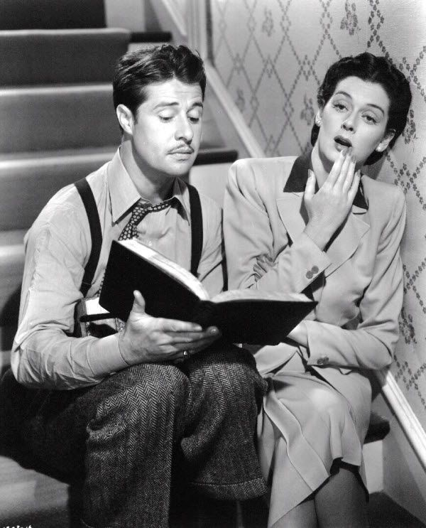 """Don Ameche and Rosalind Russell ~ """"The Feminine Touch"""", (1941). One of my fav actresses!"""