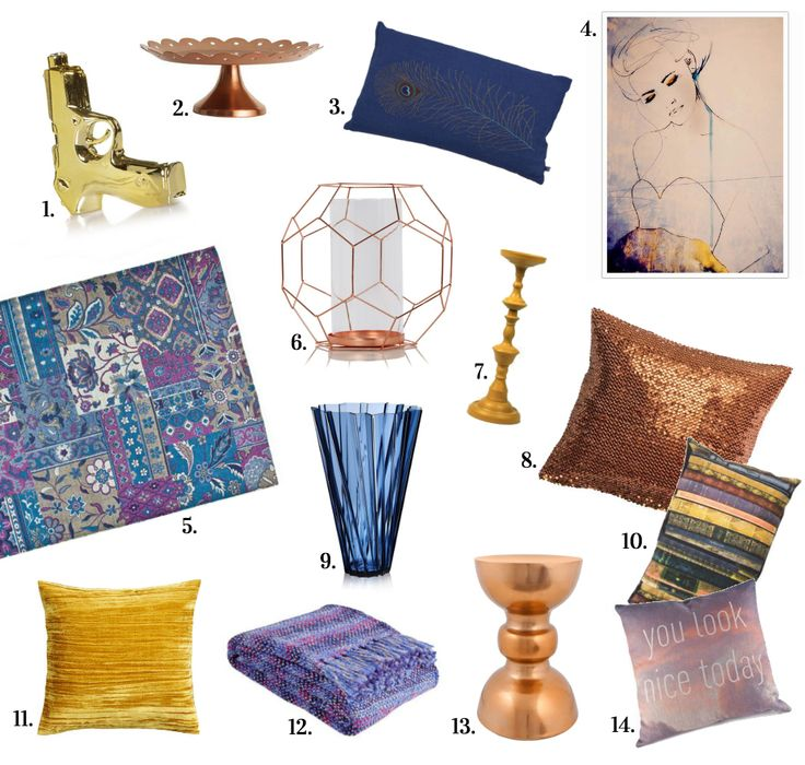 Shop the interior design trends colours of fall winter 14/15 - www.ginger-blue.nl