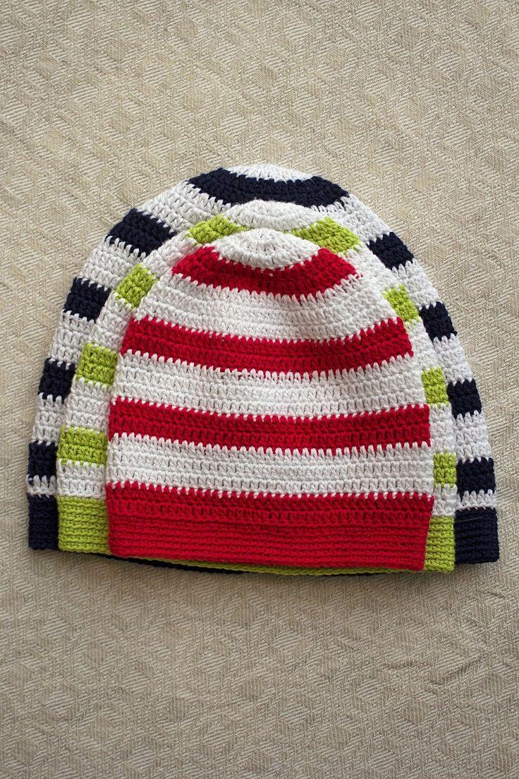 Black Sheep: grundlæggende mønster hæklede hatte i Tilda (6 størrelser)