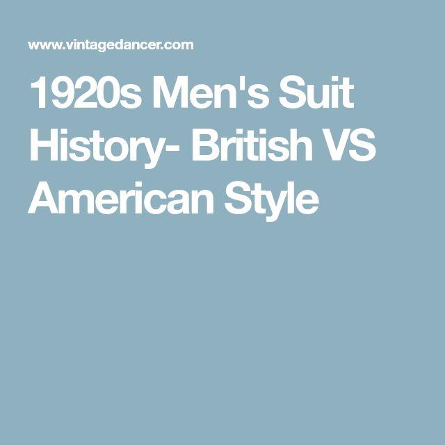 1920s Men's Suit History- British VS American Style