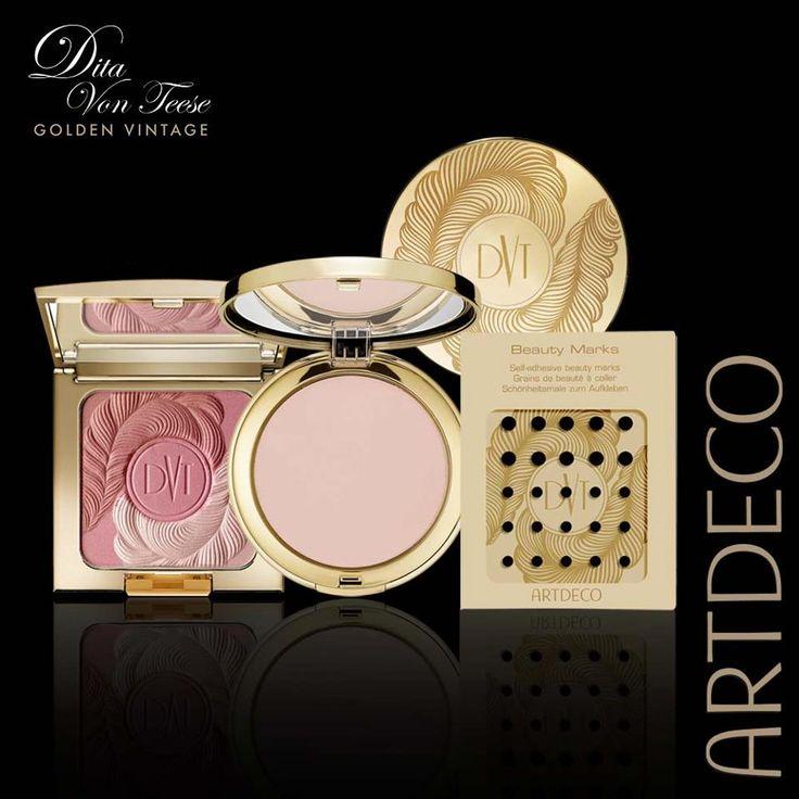 ArtDeco Dita von Teese Golden Vintage Makeup Collection for Holiday 2012 face