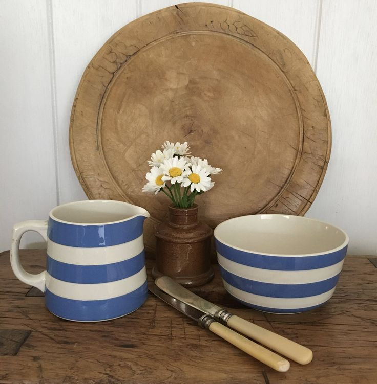 T G Green Cornishware, Blue & White Jug/Creamer and Sugar Bowl, Collectible, Kitchen Decor, Cottage Kitchen by Papillonpieces on Etsy
