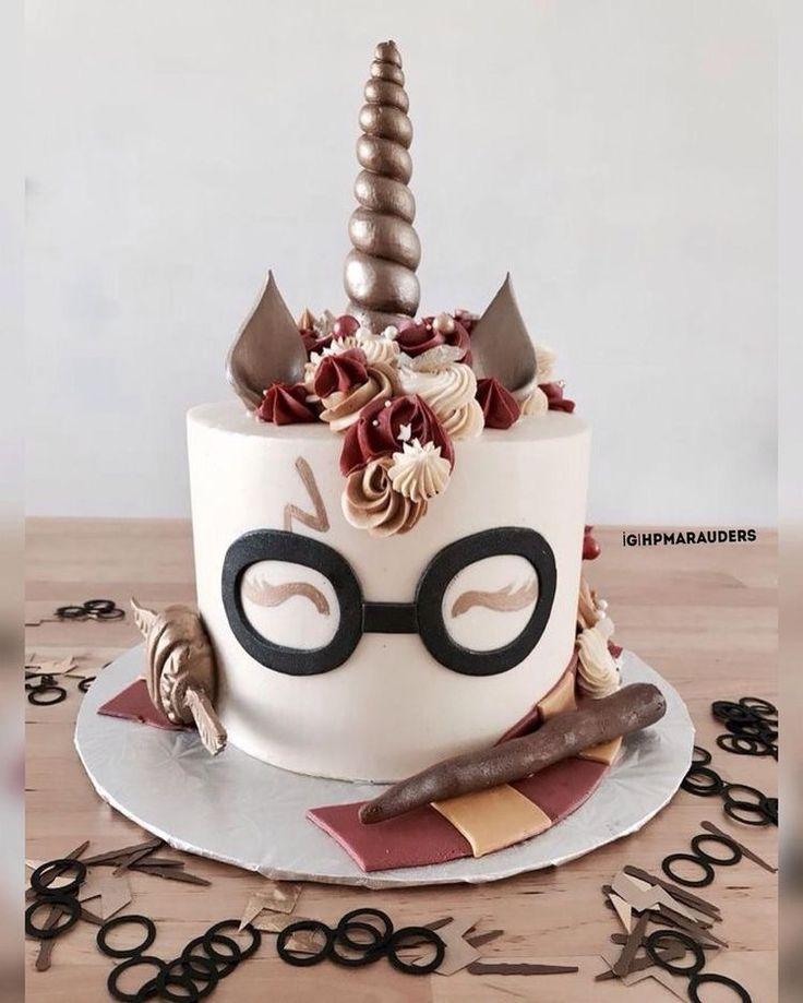 #cake #birthday #food #sweet #harrypotter #unicorn #instagram