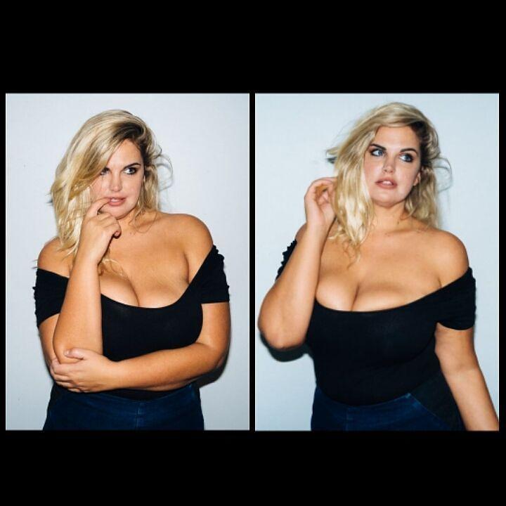Plus size model Rebecca Winters