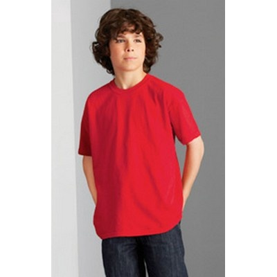 Youth Heavy Cotton Shirt Coloured Min 25 - Double needle sleeves and bottom hem shirt. http://www.promosxchange.com.au/youth-heavy-cotton-shirt-coloured/p-8408.html