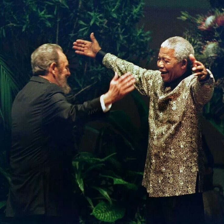 Fidel and Nelson. ..epic! #Mandela
