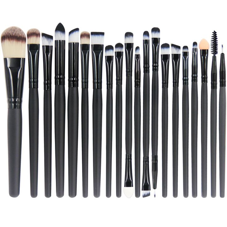 EmaxDesign 20 Stück Make-up Pinsel zum professionellen Auftragen von Lidschatte…