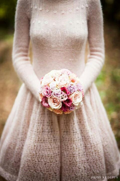 Knitted dress for winter wedding