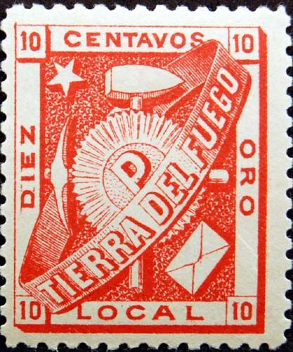 Tierra del Fuego - 1891 a stamp for gold-miners  https://www.amazon.com/s/ref=nb_sb_noss?url=node%3D154606011&field-keywords=neil+Rawlins
