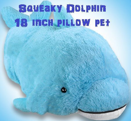 My Pillow Pets Squeaky Dolphin Large 18 Inch Plush Stuffed Animal