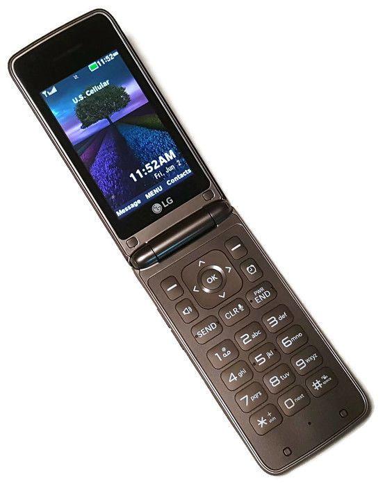 US Cellular LG Wine IV 4 Black Clean ESN UN540 Basic Slim Flip Cell Phone #6033 #LG #Flip