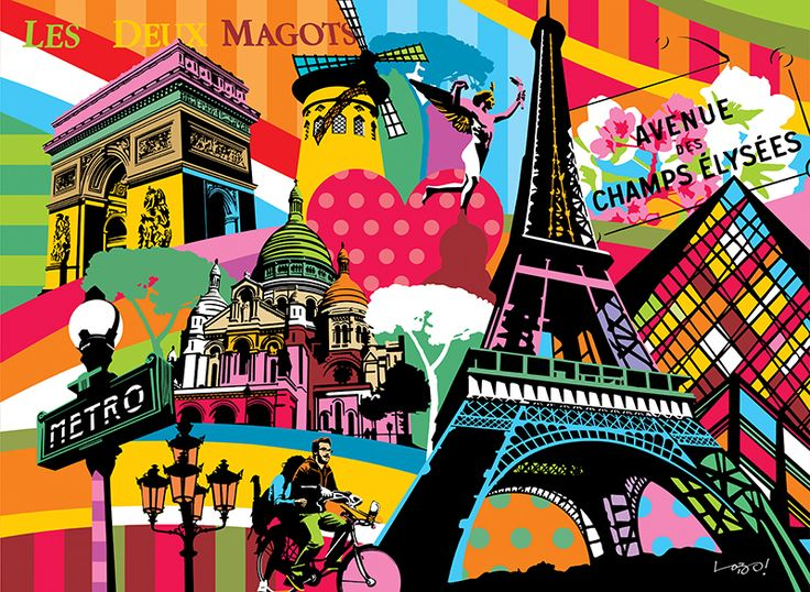 Paris | Lobo | Pop Art #paris #popart www.lobopopart.com