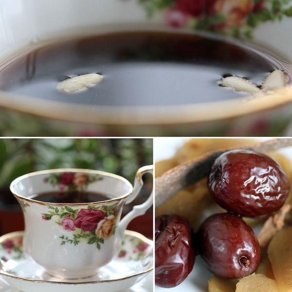 Korean Ginger Jujube Cinnamon Tea Recipe 생강 대추 계피차