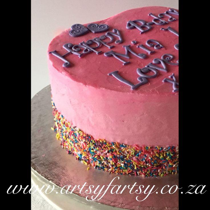 Butter Icing Heart Cake #heartcake