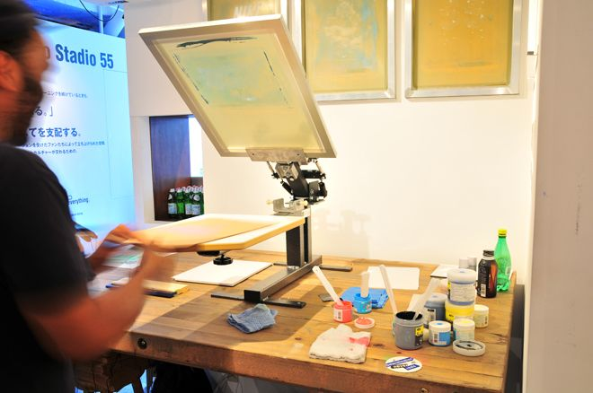 Little screen printing studio