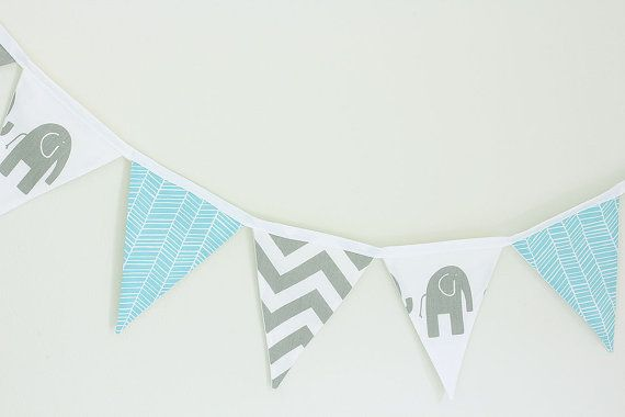 Baby Bunting  Chevron Grey Elephants and Aqua by raenne on Etsy, $40.00