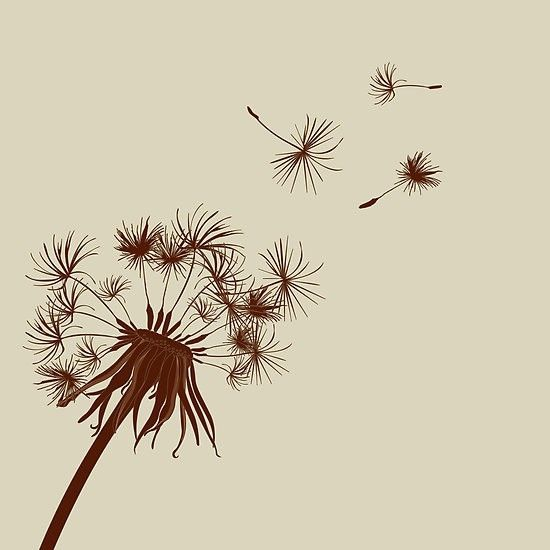 Dandelion tattoo. I actually love this....I am a weed afterall...