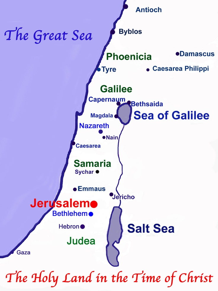 The Holy Land at the Time of Christ.