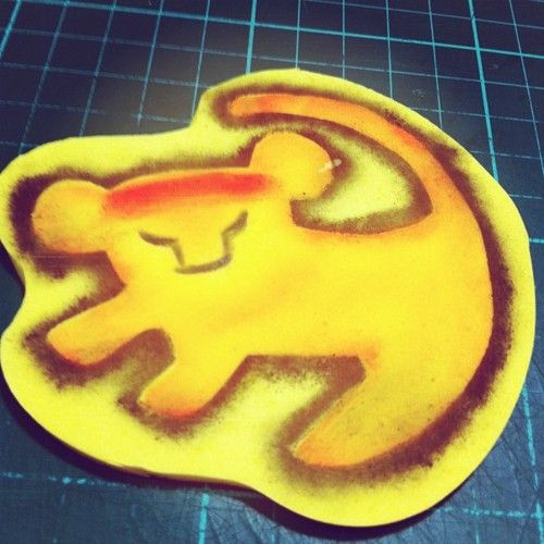 Preps for a Lion King project  (Taken with Instagram at Flibby's Cupcakes)