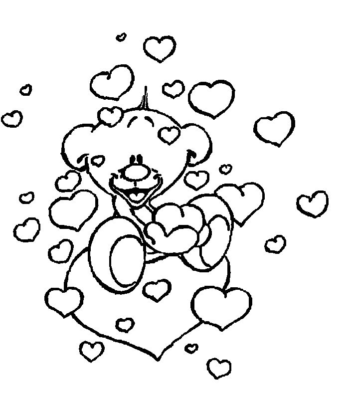 valentine's day pictures to color  valentine coloring pages