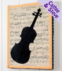 Musical Wall Art to make - except the one I make will  have a trumpet!!!