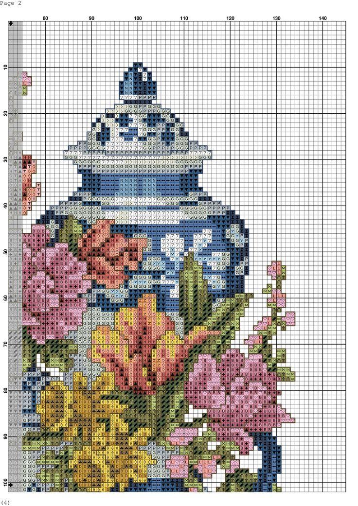Les 3345 meilleures images du tableau mod le tricot sur pinterest points de croix m tiers de - Broderie sur tricot point mousse ...