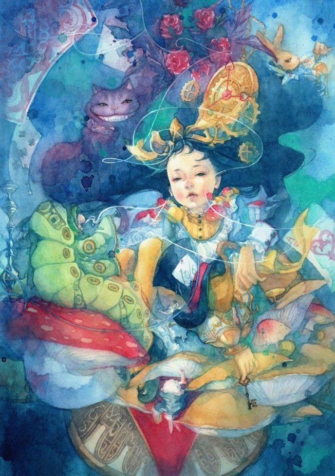 Inspiradas pela obra do escritor Lewis Carroll intitulada Alice no País das Maravilhas, esta é uma seleção de ilustrações no mínimo soberbas da artista japonesa Taupe Syuka.