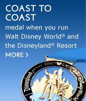 Coast to Coast medal - when you run a half marathon (or longer) at Disneyland and Walt Disney World in the same calendar year, you get this!