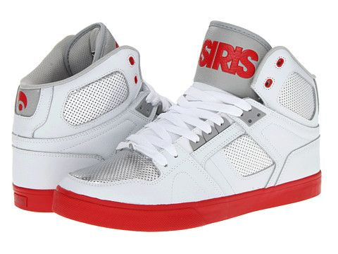 White Red Osiris Shoes On Long Tongue Osiris Shoes Material