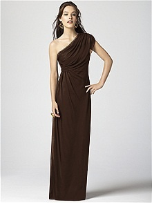 Dessy Collection Style 2858 #brown #bridesmaid #dress