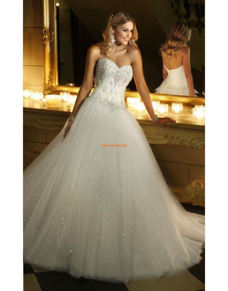 Glamorous & Dramatic Sleeveless Lace-up Wedding Dresses 2014