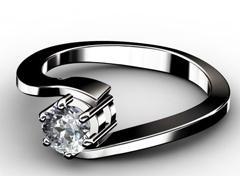 Diamant Verlobungsring Schicksal, 750er Weißgold 18 Karat