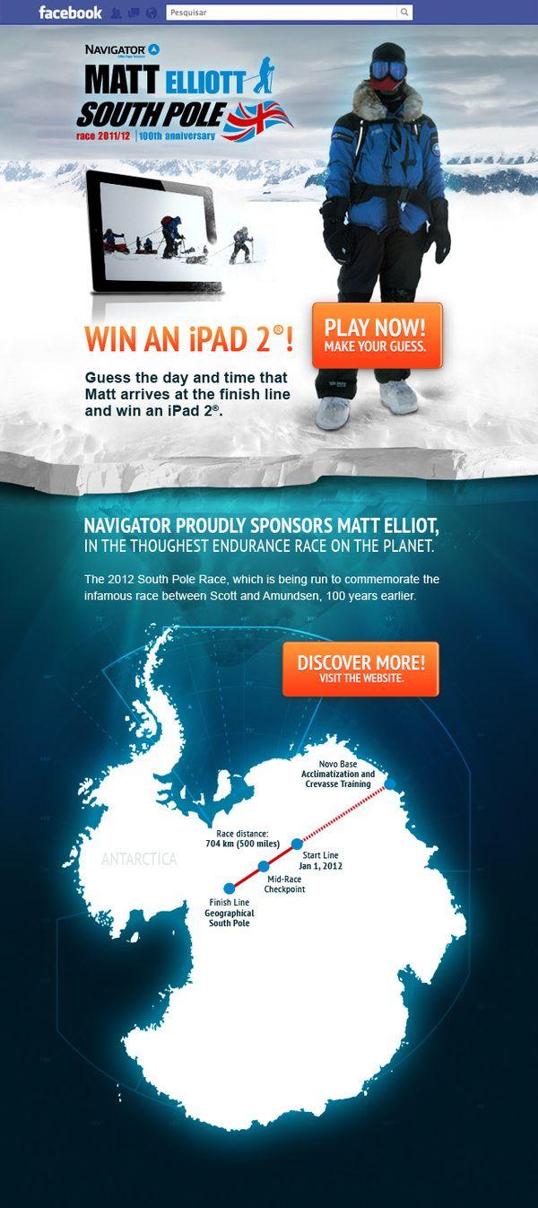Navigator South Pole Promotion by hugraphic , via Behance