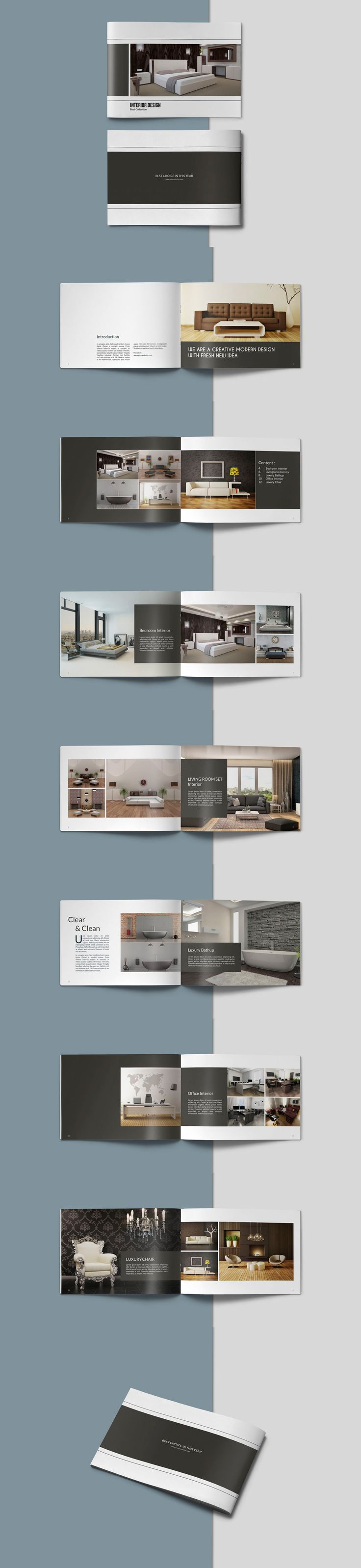 Portfolio Brochure Catalogs Template PSD, InDesign INDD - 16 Pages
