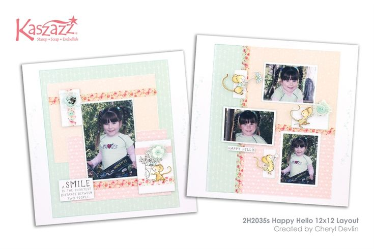 2H2035s Happy Hello 12x12 Layout
