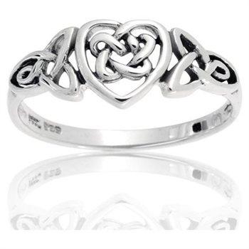 Celtic Knot Heart Ring (I love it) $19.99