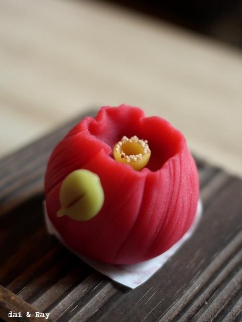 Japanese sweets, Wagashi Tsubaki - Camellia 和菓子 椿