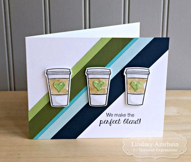 Taylored Expressions - Share Joy Challenge: Sketch + Clean & Simple. #coffee #perfectblend #cups #tea #drinks #morning #caffiene #handmade #cardmaking