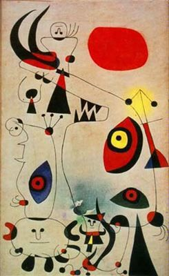 "Joan Miró Ferrà (1893-1983). ""Amanecer, 1946"". Óleo sobre lienzo. Colección Perls Galleries. New York."