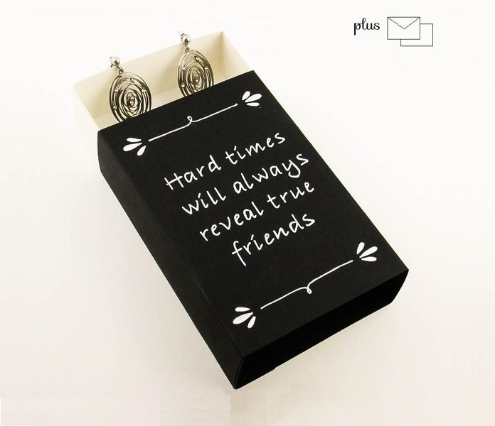 Wrapping Paper & Co. – black paper box gift box  match box  – a unique product by DressYourGift on DaWanda