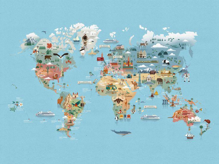 Dieter Braun – Brauntown #illustration #worldmap #word #map #mapping #animal #holiday #trip #worldtrip #infographic