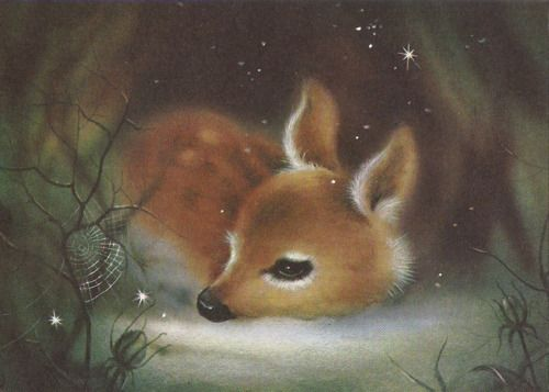 Quite possibly one of the cutest deer illustrations that I've seen..ever!! :-D eeeee!! <3<3<3