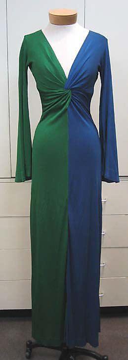 Evening Dress, Evening Gown, Splendid Evening Dress Design, Fashion Designer, Evening Dress Designer, Miracle Gown    Scott Barrie (American, 1946–1993)  Date: ca. 1972 Culture: American Medium: silk