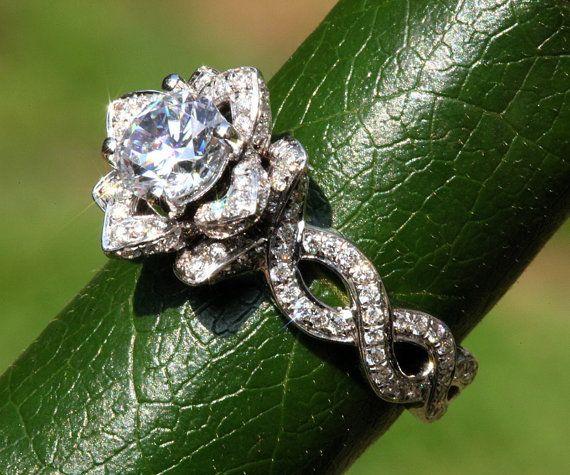 EVER BLOOMING LOVE  1.50 ct Infinity Diamond por BeautifulPetra